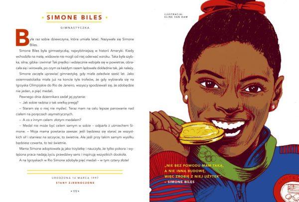 Opowieści na dobranoc dla młodych buntowniczek. Simone Biles