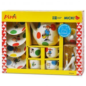 Porcelanowy zestaw do herbaty z Pippi