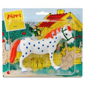 Figurki: koń Pippi i małpka Pan Nilsson