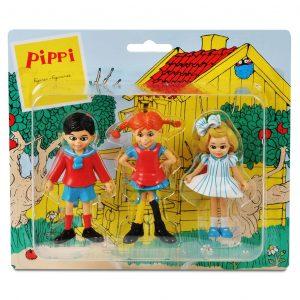 Figurki: Pippi, Annika i Tommy