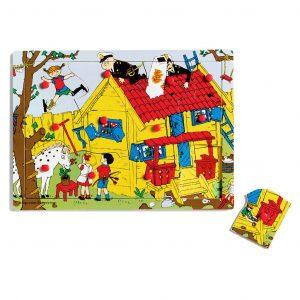 Drewniane puzzle Pippi 12 elementów