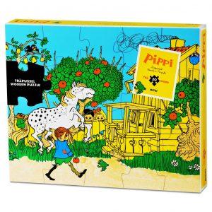 Drewniane puzzle Pippi 20 elementów