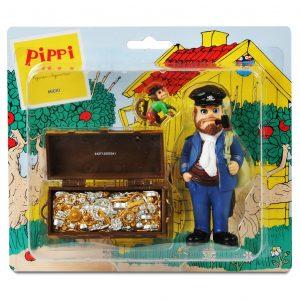 Figurki: ojciec Pippi Efraim, Pan Nilsson i skarb