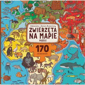 Zwierzęta na mapie. Puzzle - Aleksandra i Daniel Mizielińscy