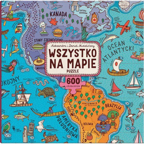 Wszystko na mapie. Puzzle - Aleksandra i Daniel Mizielińscy