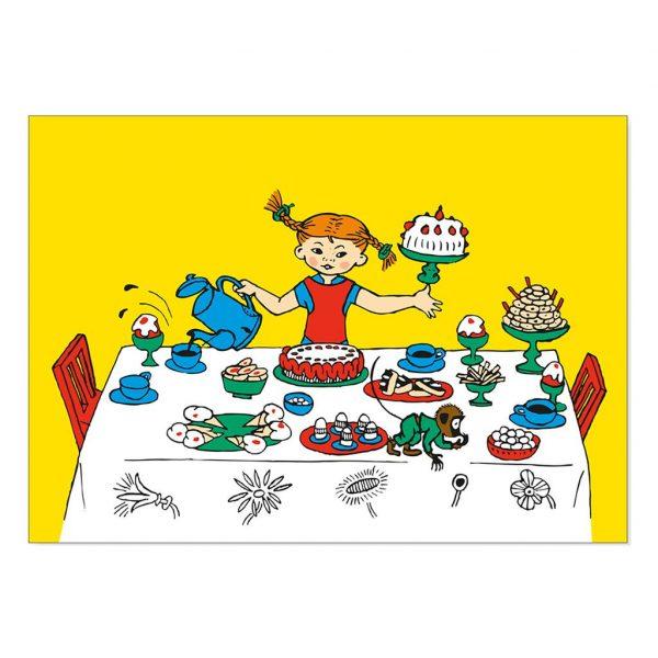 Pocztówki Pippi: komplet 12 zaproszeń na przyjęcie