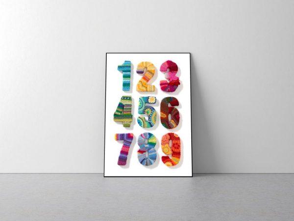 Plakat CYFRY - Anna Salamon