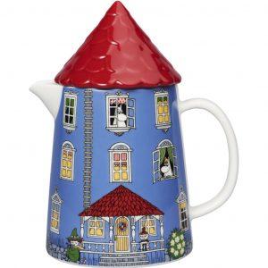 Dzbanek porcelanowy Arabia Finland Muminki Domek z daszkiem