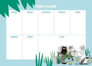 Planer tygodniowy Muminki DŻUNGLA