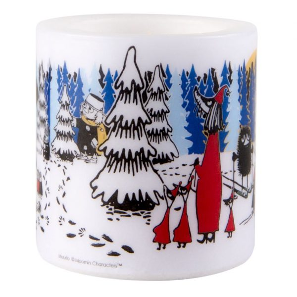 Świeca Muminki WINTER FOREST 8 cm